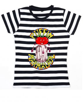 Puffin Marmelade Stripy T Shirt (Original Motiv)