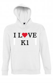 Kapuzen Sweater I Love K1